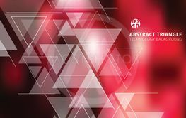 Abstract blurred red background with triangles pattern...