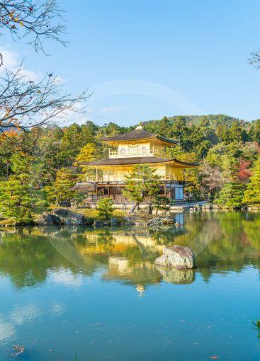 Beautiful Architecture at Kinkakuji Temple (The Golden...