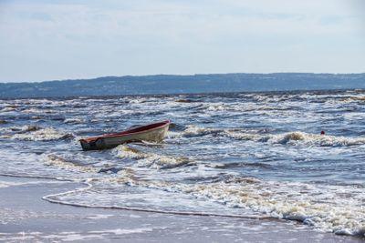 Båt i vågor
