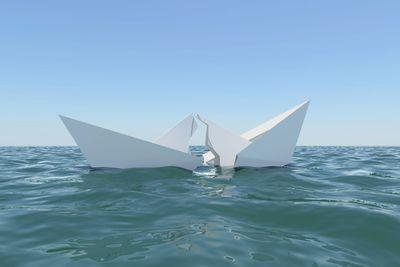 Paper Boat sinks in water