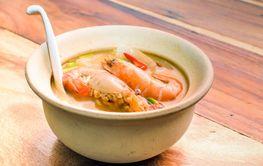 Tom Yum Nam Koong Khon - Creamy Thai soup with prawns and...