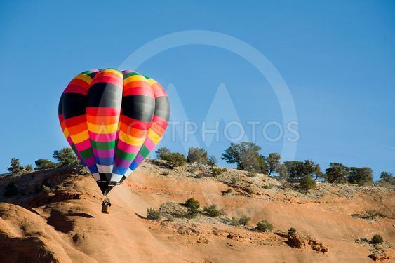 Hot Air Balloon At Gallup,New Mexico.