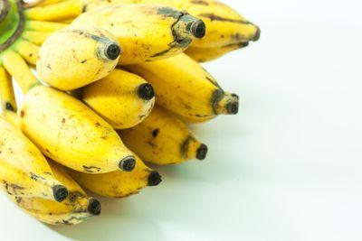 Bunch of yellow small banana fruit