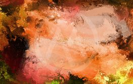 unsaturated red cool stylish painting, fantastic colored...