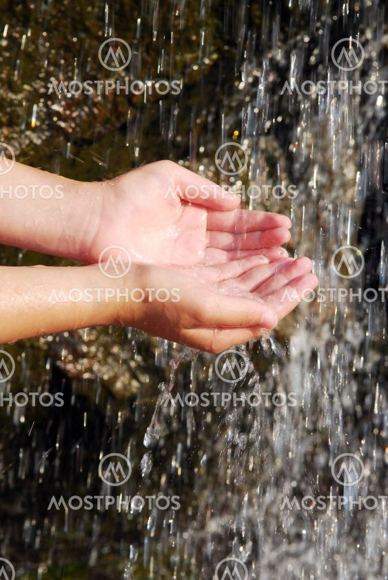 Water in hands