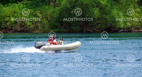 Boating on river