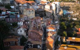 Top view of Ribeira in Porto