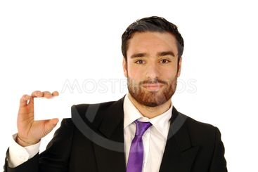 Businessman with business card 2