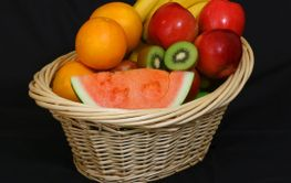 Basket full of delicious fruits