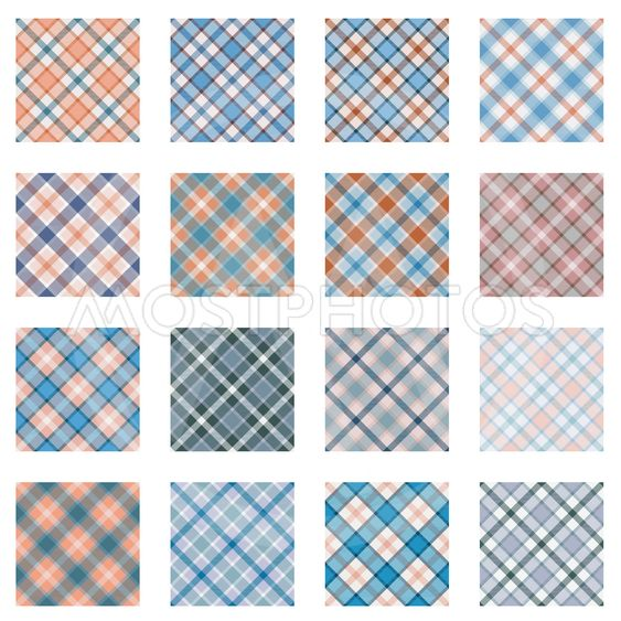 Plaid patterns collection