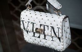 Valentino handbag in a luxury fashion store showroom