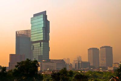 Jakarta Skyline at dusk