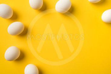Uncooked Chicken eggs