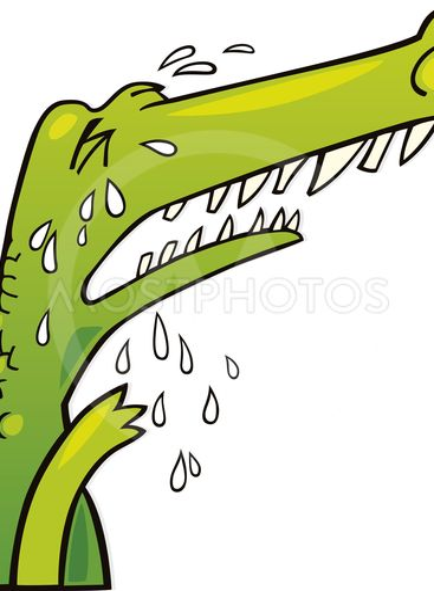 Crying crocodile