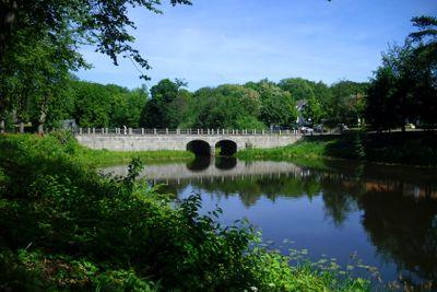 The ancient stone bridge