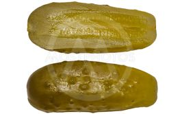 Pickled cucumber on a white background