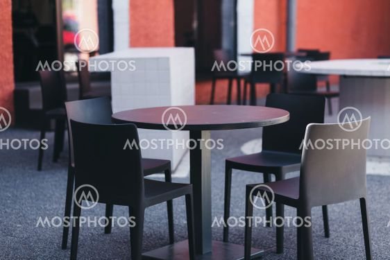 small outdoor summer cafes