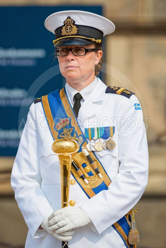 Officer of the Royal Swedish Music battalion during a...