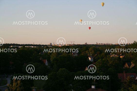 Balloonride över Stockholm