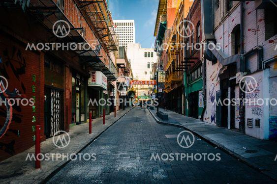 Street in Chinatown, San Francisco, California.