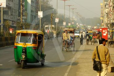 Busy street of Delhi, India