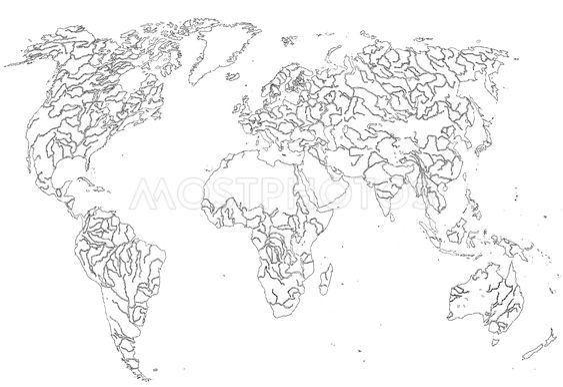 Grafiske kort af verden, (vektor)