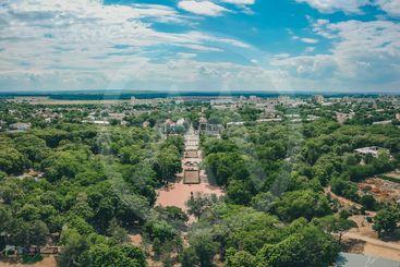 Aerial panorama of Tiraspol