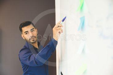 Brainstorming på kontoret
