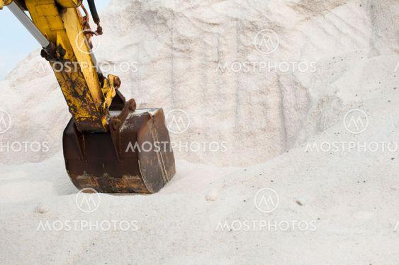 Grävmaskin gräva lugg salt