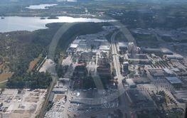 Aerial view of Växjö.