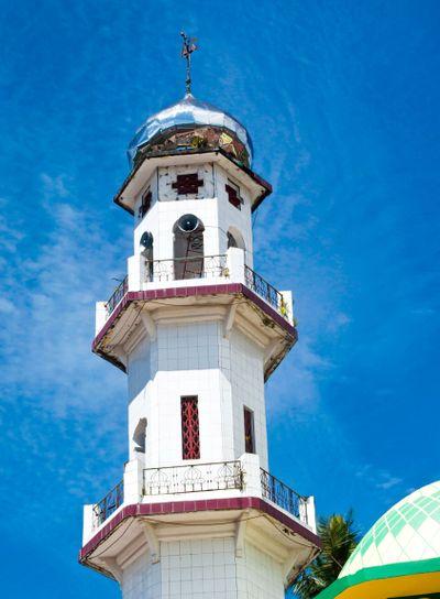 Modern mosque minaret