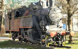 old locomotive placed in the park