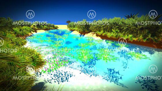 African Oasis On Sahara By Dariusz Satori Mostphotos