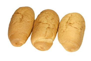 three small loaf of bread