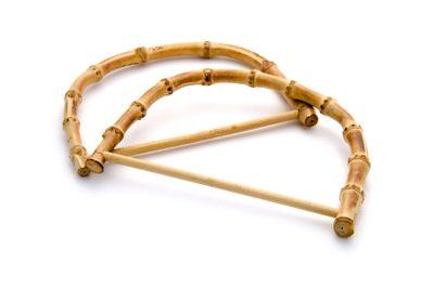bamboo handles for bag close up