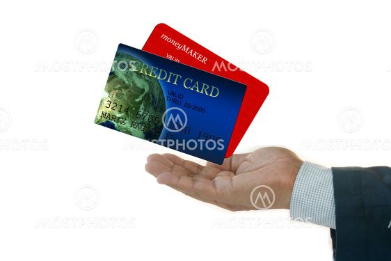 Businessman with Credit Cards