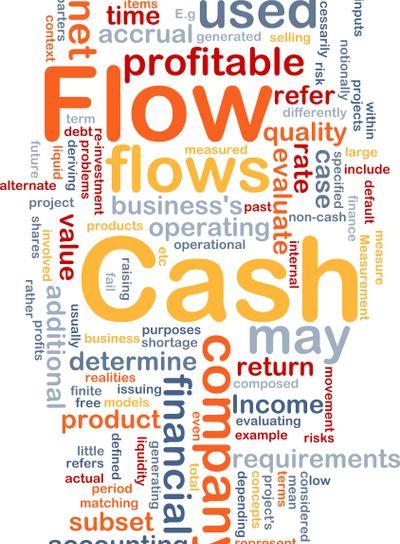 Flow cash is bone background concept