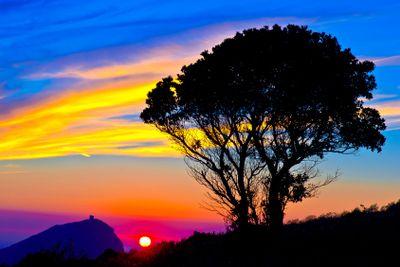 corsica, porto gulf : capu rossu at twilight