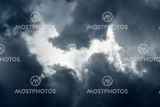 A close up abstract photograph of dramatic, dark, stormy...