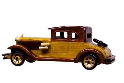 wood model car