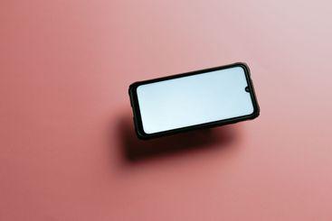 Minimalistic mock up flat image design of a mobile phone...