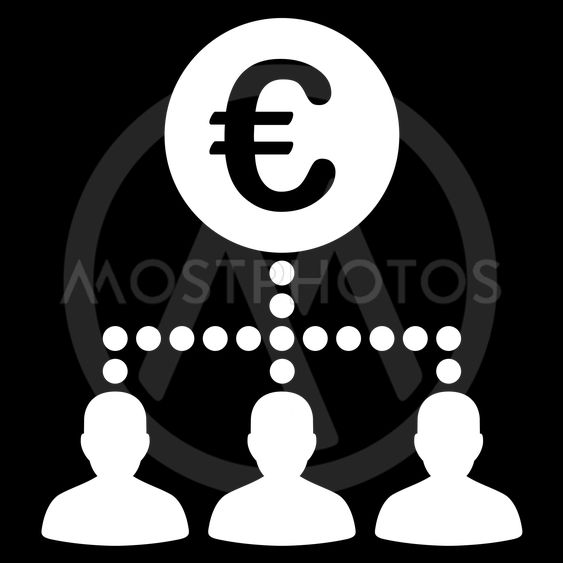 Euro Payment Clients Flat Vector Icon