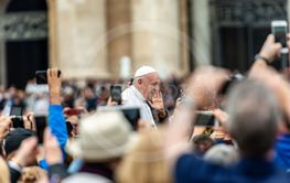 Pope Francis I among the faithful - Vatican City Rome