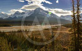 North Saskatchewan River and Mount Wilson at Banff...