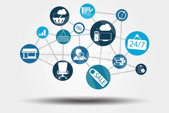 Graphic Vector Network Work, Internet, Web and Business...