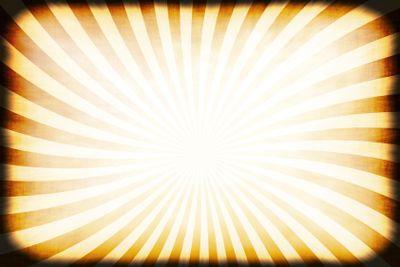 Retro Rays Grunge Border