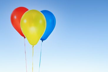 Colorful balloons for birthday and celebrations isolated...