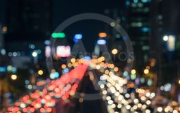 Blurred image of traffic jam night light