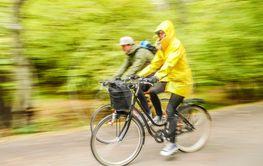 cykeltur i regnet