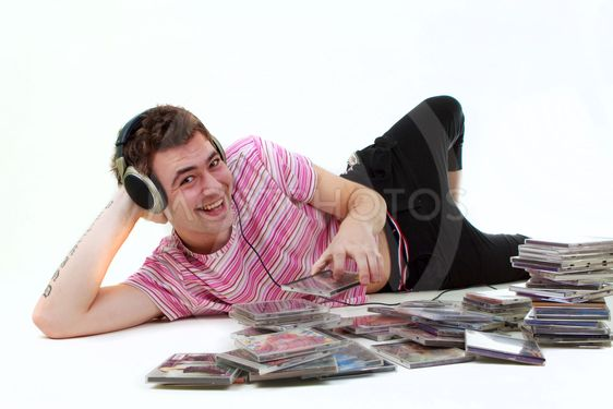 Man with CD's